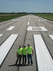 Airfield after restriping